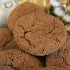 Desserts, Grandmas Gingersnap Cookies, This Melt-In-Your-Mouth Ginger Cookie Recipe That I Received From My Grandmother Has Been Enjoyed In My Family Since Ginger Snaps Recipe, Ginger Snap Cookies, Tea Cakes, Köstliche Desserts, Dessert Recipes, Dessert Bars, Yummy Recipes, Biscotti, Shortbread