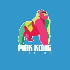 Logo Design for Pink Kong Studios by DoodleMoose Designs