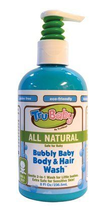TruBaby Bubbly Baby Body & Hair Wash by TruKid. $8.99. Dermatologist & Pediatrician tested. Extra safe for sensitive skin. 2 in 1 Wash for little bodies. Paraben, BPA & Phthalate free. Free of all harsh chemicals & fragrances. Gentle, 2 in1 body and hair wash for babies