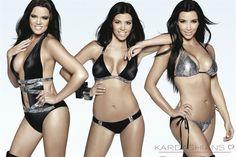 - Pictured: The Kardashian sisters in a new ad for their bikini line. Not pictured: Their real bodies and faces. Kardashian Family, Kardashian Style, Kardashian Jenner, Kourtney Kardashian, Kardashian Fashion, Kardashian Clothing, Kris Jenner, Beach Bunny Swimwear, Celebrity Bikini