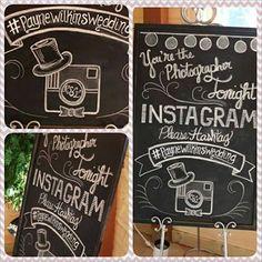 Chalkboard Art, Instagram Board by OutofDustDesigns on Etsy, $40.00