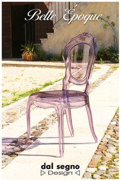 Belle Èpoque transparent chair in Spilimbergo