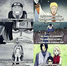 I'm glad that every member of Team 7 achieved their dreams… but only Sasuke's dream remained a regret after all :(