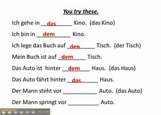Work with accusative and dative prepositions in German - www.germanforsp...