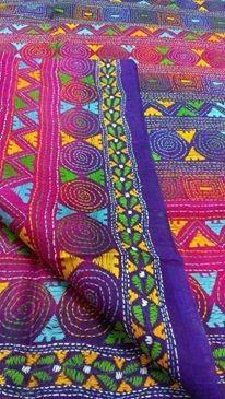 kantha_stripes_dupatta_on_tussar_silk_with_geometric_pattern.jpg (206×365)