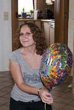 Ein bunter Ballon zum Geburtstag
