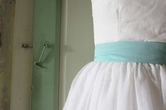 wedding dress mint, french, cha'ann http://www.alittlemarket.com/boutique/cha_ann-477.html