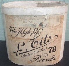 . Antique hat box