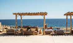 The new beach club and restaurant to try in Mykonos: To entertain guests while they dine or sun-lounge, the Scorpios has arranged a program of activities including an ever-rotating list of international DHs who set the mood from 2pm each day, and into the night.