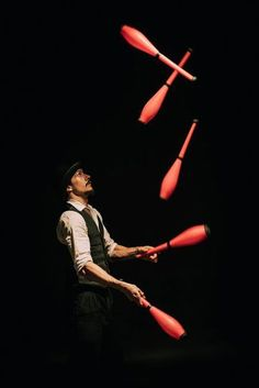 Book our circus juggler for events across NYC and beyond. A professional circus entertainer he can juggle a range of apparatus and combine it with several other circus skills Circus Acts, Circus Clown, Circus Theme, Circus Photography, Circus Aesthetic, Art Du Cirque, Dark Circus, The Circus, Circo Vintage