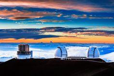 Sunset on Mauna Kea, Hawaii   by Wayne Pinkston