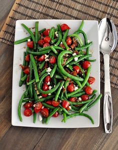 Fresh Green Bean Salad with Balsamic Dressing | Mel's Kitchen Cafe