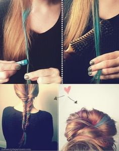 DIY Pastel Hair using chalk pastels!
