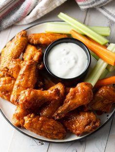 Crispy Baked Buffalo Wings Recipe (Learn How to Make the BEST Baked Chicken Wings in the Oven!) wings in the oven crispy Best Crispy Baked Buffalo Wings Recipe (VIDEO) - A Spicy Perspective Baked Hot Wings Recipe, Best Baked Chicken Wings, Crispy Chicken Wings, Chicken Recipes Healthy Oven, Chicken Wing Recipes, Yummy Recipes, Dinner Recipes, Cooking Recipes, Yummy Food