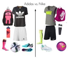 """Soccer Practice Outfit: Adidas or Nike??? Comment"" by cristinamartinez2000 ❤ liked on Polyvore featuring NIKE, adidas and adidas Originals"