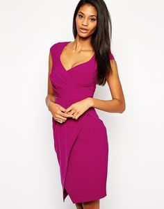 Lipsy Sweetheart Pencil Dress with Wrap Skirt