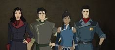 New Pic of The Krew! Is it just me or did Korra beef down a little? Everyone else looks great though