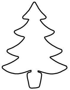 Tulosta joulukuusi tai joulukadun silhuetti ikkunaan