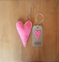 Hanging Heart & Gift Tag by HandmadeByHoppy on Etsy