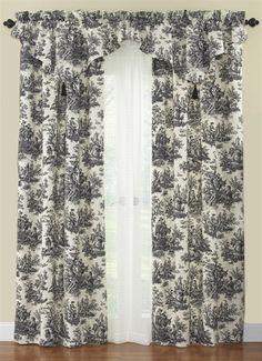 Waverly Country Life Toile Curtains | Waverly Country Life Toile Panel and Valance | PaulsHomeFashions.com