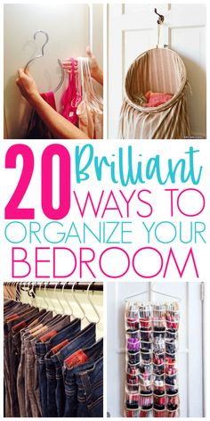 20 Amazing Organization Hacks That Will Transform Your Bedroom - Organization Obsessed - 20 Brilliant Ways To Organize A Bedroom Brilliant Ways To Organize A Bedroom Informations Abo - Organisation Hacks, Organizing Hacks, Organizing Your Home, Bathroom Organization, Storage Organization, Organizing A Bedroom, Organising, Organization Ideas For Bedrooms, Decluttering Ideas