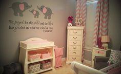 Habitación bebé temática Elefante : Cualquier animal es una buena elección a la hora de decorar una habitación de bebé, como el ejemplo que compartimos hoy, una habitación bebé temática Elefa