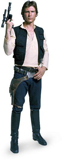 Harrison Ford as Han Solo in Star Wars Han Solo Cosplay, Han Solo Costume, Leia Costume, Han Solo And Chewbacca, Han And Leia, Star Wars Han Solo, Disfraz Star Wars, Starwars, Princesa Leia