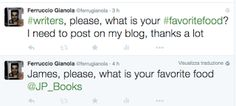 Ferruccio Gianola: Scrittori twittatemi il vostro cibo preferito