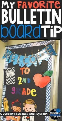 Bulletin board tips and ideas from Schroeder Shenanigans in 2nd