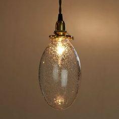 Oval Bubble Glass Shade by Josue Oris