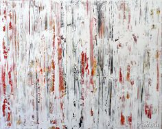 Spectrum V - Abstract mixed media painting on canvas, 48 x 60, by Clara Berta