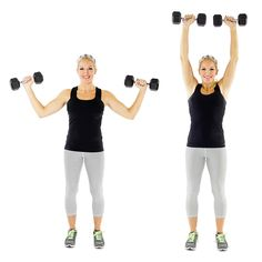 5 Moves to Beautiful Biceps – Shoulder Press, Push Up, Travelling Push Up, Weighted Arm Circles and Bicep Curl
