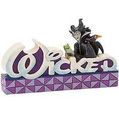 From the Jim Shore Disney Traditions collection comes this word plaque that spells out the characteristic of all Disney villains--and that's the way we like them!