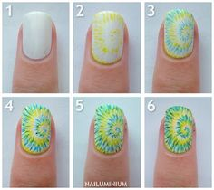 Tie Dye Nail Tutorial - #nails #nailpolish #polish #nailart #naildesign #cute #fun #pretty #howto #tutorial #beauty #spring #manicure #tiedye