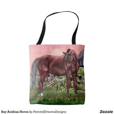 Bay Arabian Horse Tote Bag