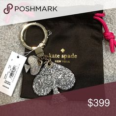 Kate Spade Heart Key Fob - NWT/Silver Kate Spade Heart Key Fob - NWT/Silver. Easy open & close  ❌NO TRADES 🔴OFFERS SHOULD BE MADE THROUGH POSH OFFER FEATURE 🔴PRICES NOT DISCUSSED IN COMMENTS  🔴FEEL FREE TO ASK ANY QUESTIONS kate spade Accessories Key & Card Holders