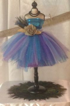 Close up on tutu centerpiece by Le Bouche' Luxe Designs