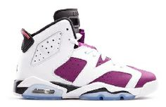 543390-127 Womens Air Jordan 6 Retro Grape (White/Vivid Pink-Bright Grape-Black) $109.99 http://www.newjordanstores.com/