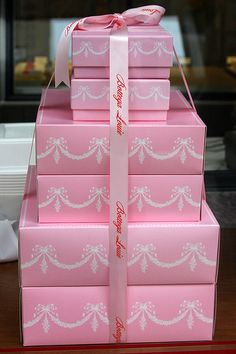 Boxes from the patisserie.