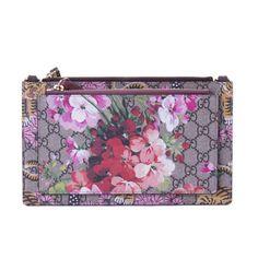 07b163d12f3 Cloth clutch bag Gucci Multicolour. Gucci Soho Metallic Leather Chain  Crossbody Bag Peonia Flower Tulip Pink Purple New