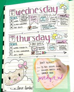 Another page of my bullet journal! Loving it! #bulletjournal #bujo #planner…