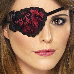 New Eyepatch Stitches Pirate Fancy Dress Accessory