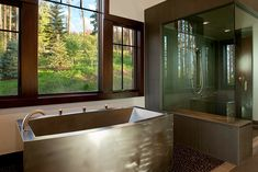Diamond Spas, a Colorado company that crafts custom stainless steel and copper tubs to buyers' specifications.