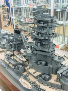 "IJN Battleship-Carrier ""Ise"" 1/100 scale Model in Museum quality finish. 日本海軍航空戦艦-伊勢 #1C"
