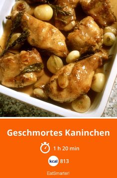 Geschmortes Kaninchen - Старый Новый Год ПоздравРHealthy Chicken Spaghetti, Easy Baked Spaghetti, Spaghetti Squash Recipes, Ground Beef Recipes Easy, Beef Recipes For Dinner, Easy Healthy Recipes, Tofu, Chicken Wing Recipes, Eat Smarter