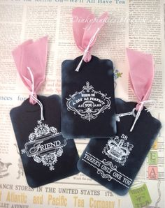 Girly Chalkboard Favor Tags