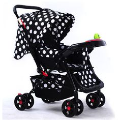 Foldable Baby Carriage Luxury Gold Children Push Chair Lying And Sitting