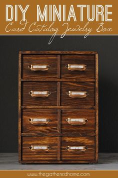 Diy Card Catalog Jewelry Box