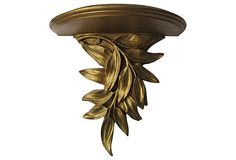 Gilt Leaf Demilune Shelf on OneKingsLane.com