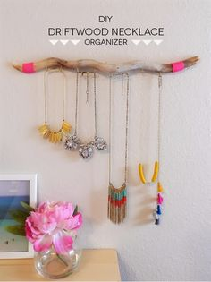 SAS+ROSE: DIY: DRIFTWOOD NECKLACE ORGANIZER